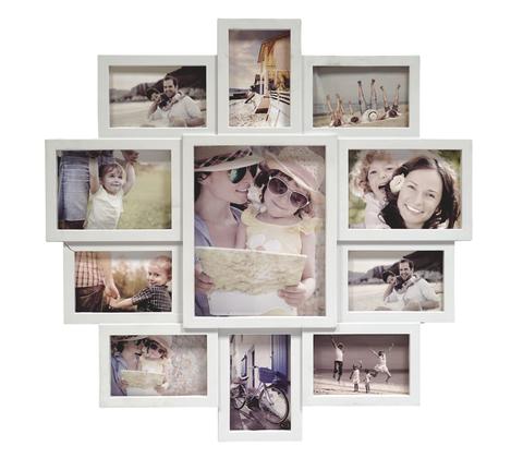 Фоторамка Fotografia FFC-1002  11 фото (20*25+2/13*18+8/10*15) белая