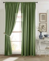 Длинные шторы. Луи (темно-зелёный). Шторы из стриженного бархата.