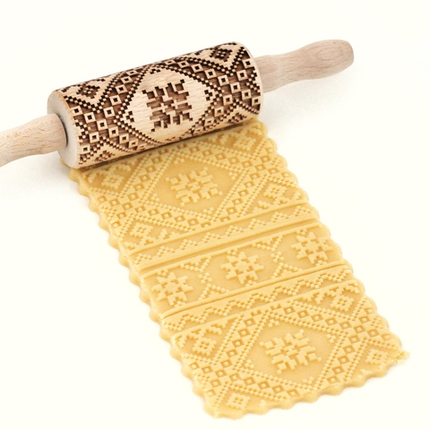 EMBROIDERY - kids engraved rolling pin