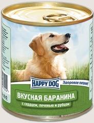 Консервы для собак Happy Dog Вкусная Баранина с печенью, сердцем и рубцом