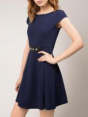 GDR009126 Платье женское. темно-синее