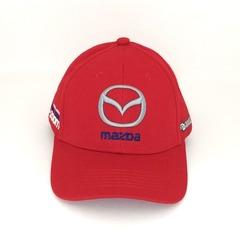 Кепка с вышитым логотипом Мазда (Кепка MAZDA) красная