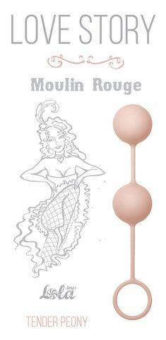Нежно-розовые вагинальные шарики Love Story Moulin Rouge
