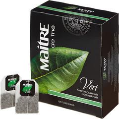 Чай Maitre Классический зеленый 100 пак/уп