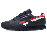 Кроссовки Мужские Reebok Classic Leather Dk Blue Red White ( с Мехом)