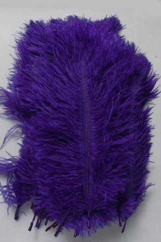Перья страуса  декоративные  15-20 см. 50 шт, сине-фиолетовый
