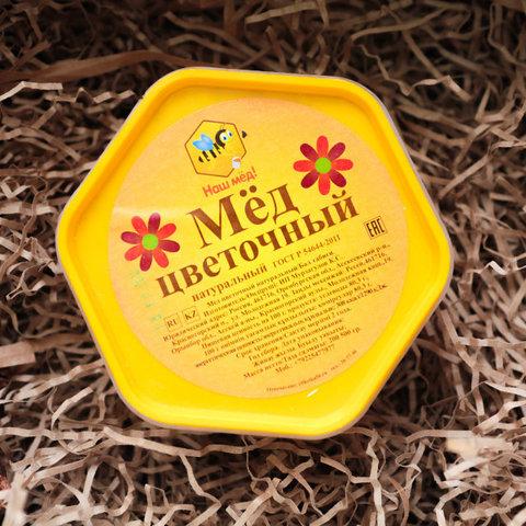 Наш мёд! мёд цветочный разнотравье 500 г