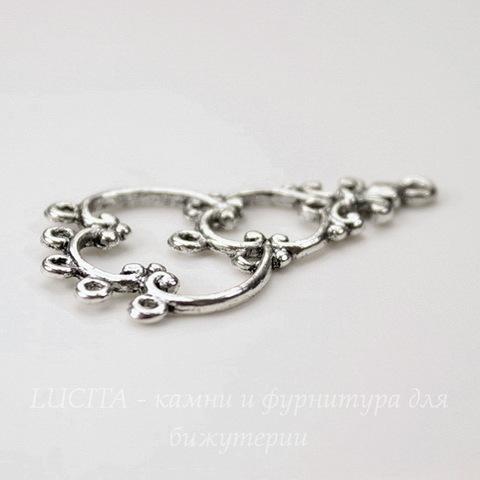 Коннектор (1-9) 35х19 мм (цвет - античное серебро)