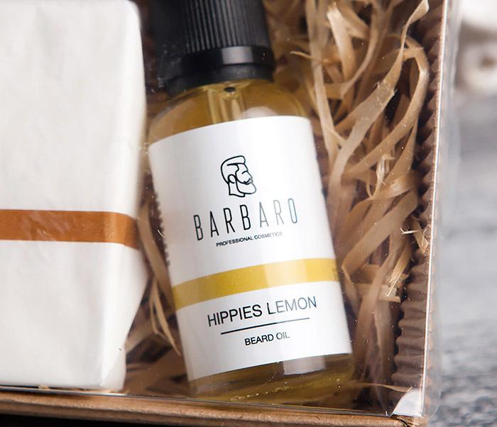 RAZ1015-3 Мужской подарочный набор «Barbaro»: масло и твердое мыло для лица и бороды фото 02