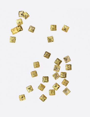 ARTEX Полусферы квадратные граненные шлифованные золото 2х2 мм