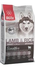 Корм для взрослых собак, Blitz Adult Lamb & Rice All Breeds, с ягненком и рисом