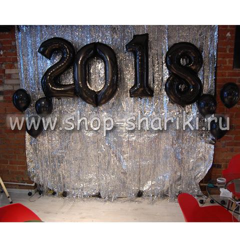 shop-shariki.ru шары-цифры на новый год 2018 черные