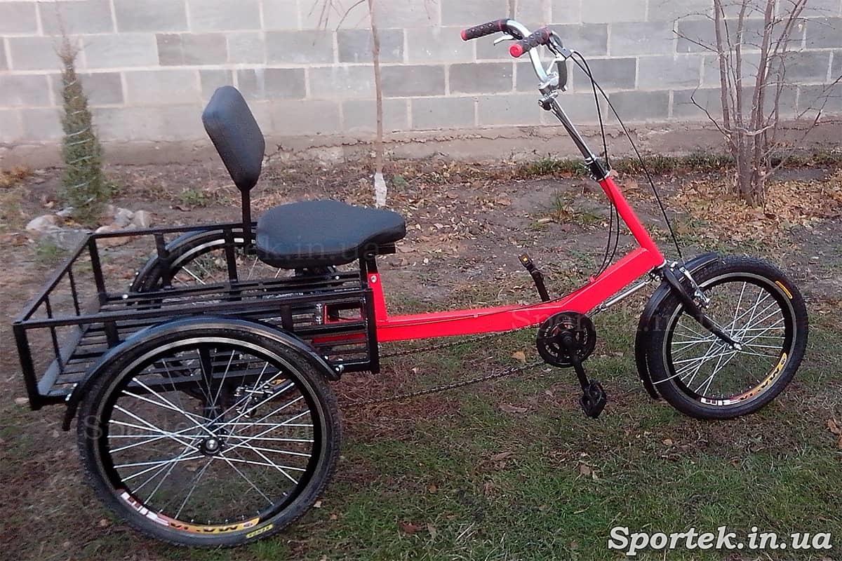 Грузовой трехколесный велосипед 'Атлет большой' с задними 24 дюймовыми колесами