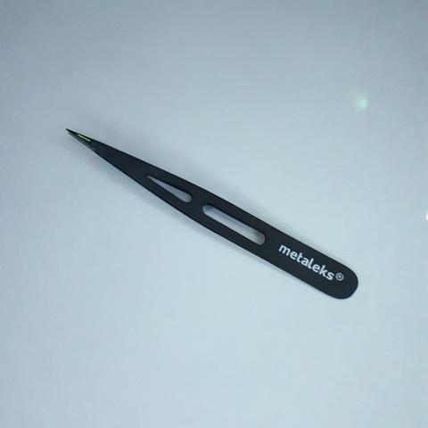 Пинцет для бровей точечный, RT-345, 9 см