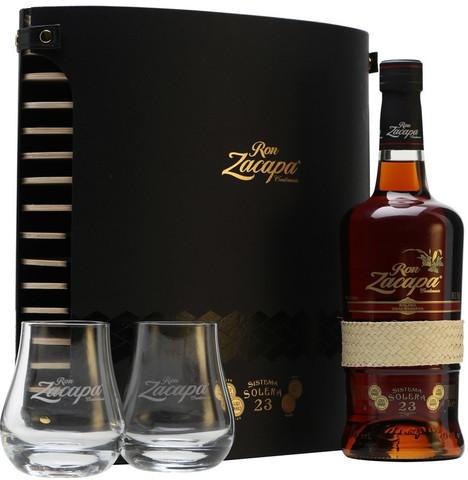 Zacapa Centenario, Solera Gran Reserva 23 years, gift box with two glasses, 0.7 л