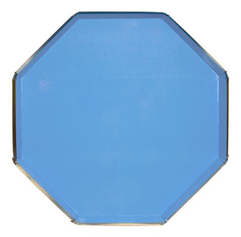 Тарелки большие, голубые