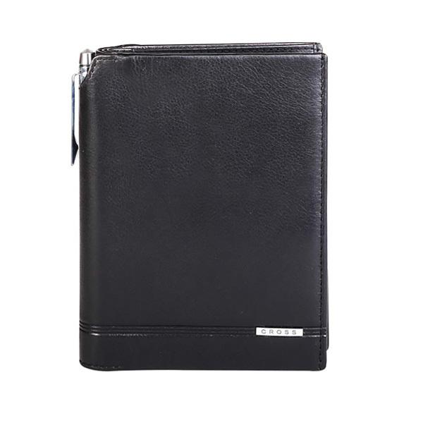 Кошелек с отделением для паспорта+ручка Classic Century, цвет черный, 14 х 11 х 1 см