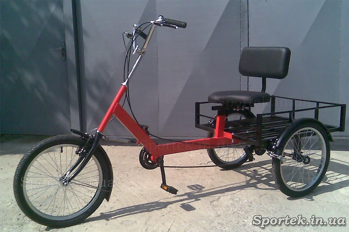 Грузовой трехколесный велосипед 'Атлет большой' (красный)