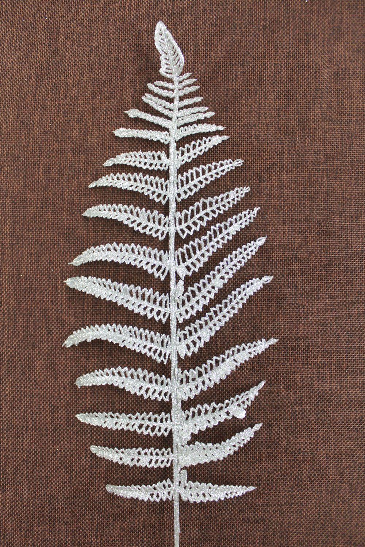 Веточка Папоротника с блестками, 45 см, 1 шт.