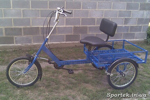Грузовой трехколесный велосипед 'Атлет большой' (синий)
