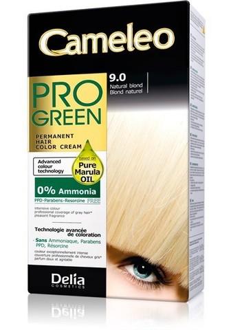 Delia Cosmetics Cameleo Pro Green Краска для волос тон 9.0 натуральный блондин