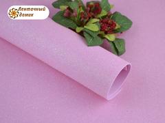 Фоамиран с блестками светло-розовый 2мм