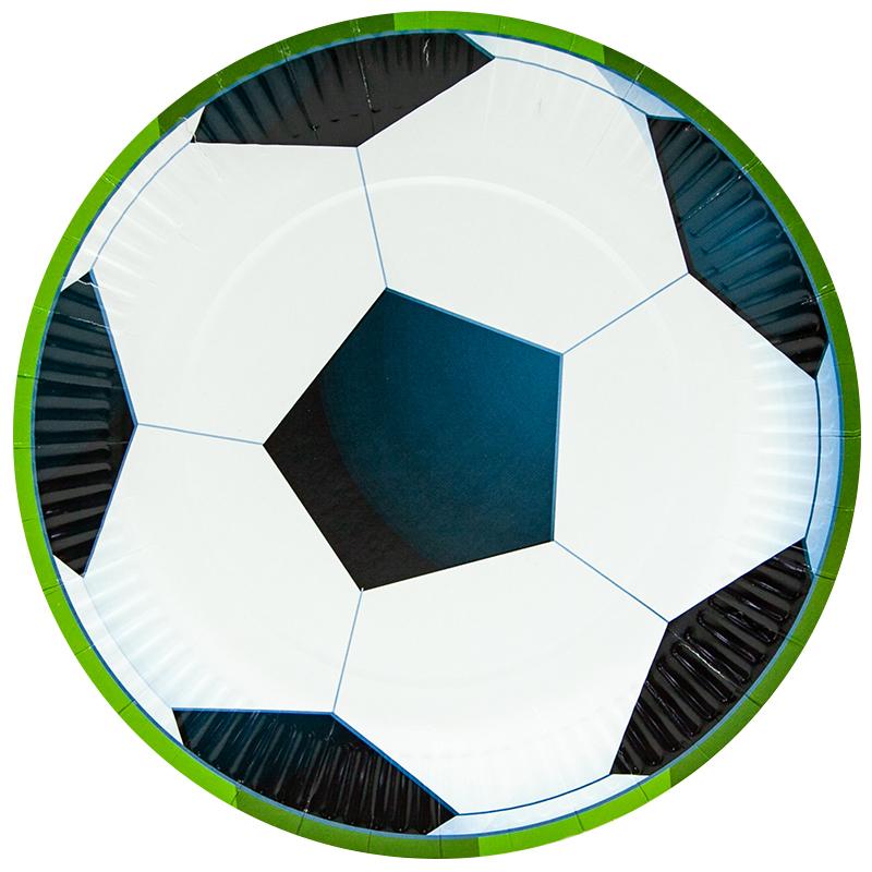 Тарелки 23 см., Футбольный мяч, 6 шт.
