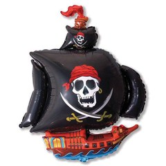 F Мини-фигура Пиратский корабль (черный), 14