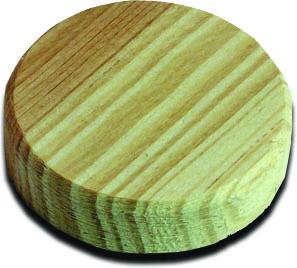 Пробка деревянная D=40 мм х 7мм 8шт Pinie 111-408