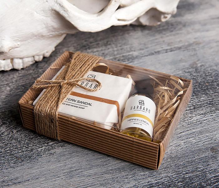 RAZ1015-3 Мужской подарочный набор «Barbaro»: масло и твердое мыло для лица и бороды фото 04