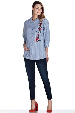 Блузка для беременных 08492 голубой