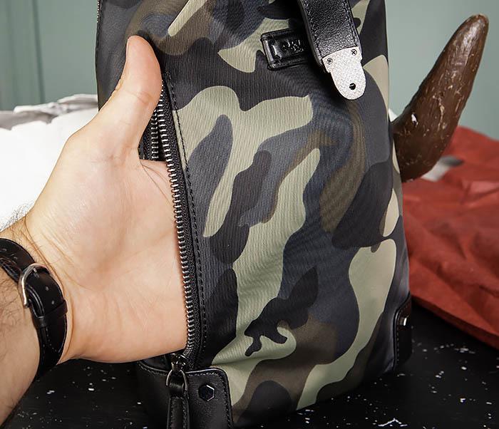 BAG489-3 Тканевая мужская сумка «банан» с одной лямкой фото 08