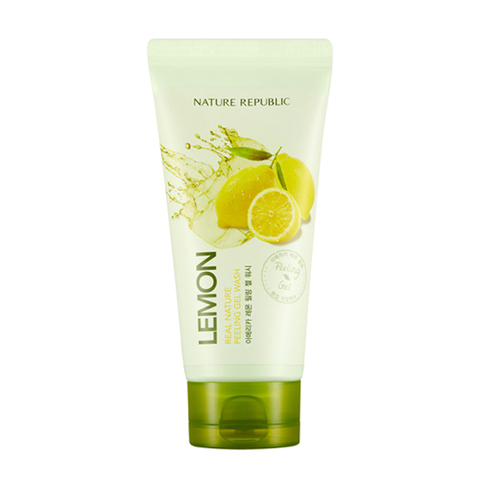Гель-скатка с экстрактом лимона Real Nature Lemon Peeling Gel Wash от Nature Republic