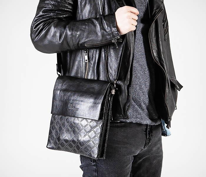 BAG559-1-1 Стильная мужская сумка планшет из кожи фото 02