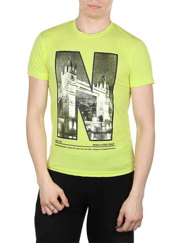 5141-1 футболка мужская, желтая