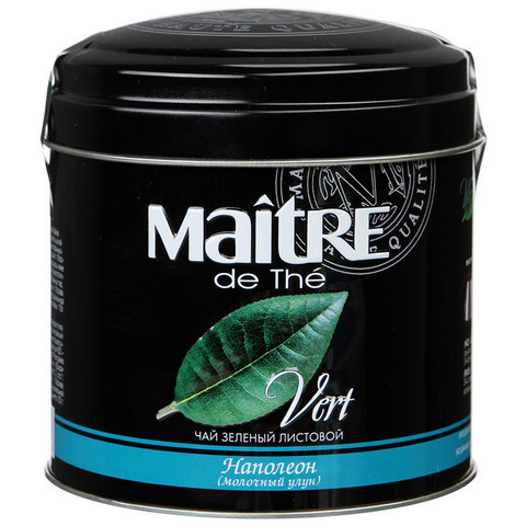 Чай Maitre Наполеон листовой зел.100г ж/б