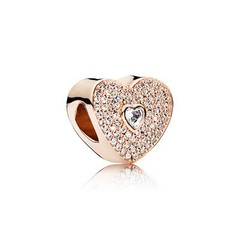 Heart with Clear Cz Charm