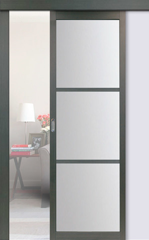 Перегородка межкомнатная Optima Porte 130.222, стекло матовое, цвет венге, остекленная (за 1 кв.м)
