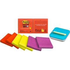 Стикеры Post-it Super Sticky Z-блок R330-6SSAN 6бл тепл. неон радуга