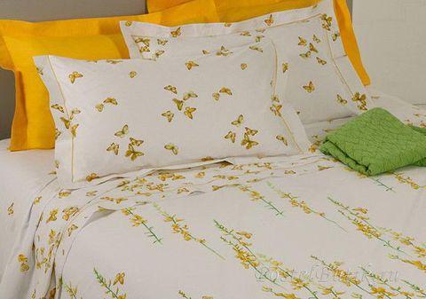 Постельное белье 2 спальное евро Mirabello Ginestre белое