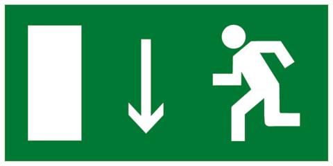 Эвакуационный знак Е10 - Указатель двери эвакуационного выхода (левосторонний)
