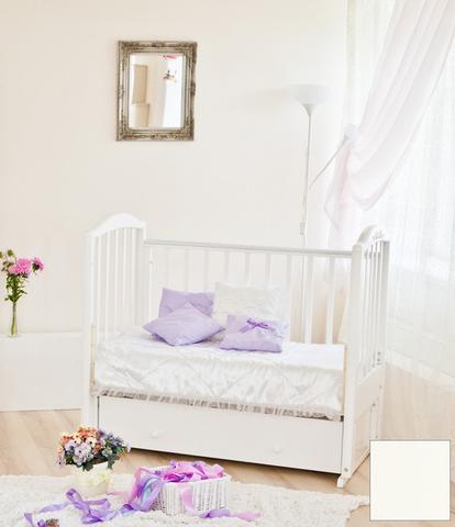 """С 580 Кровать детская """"Регина"""" накладка №23 (бабочки) (ваниль)"""