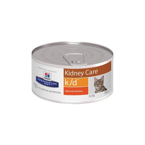 Hill's K/D консервы для кошек лечение заболеваний почек 156г