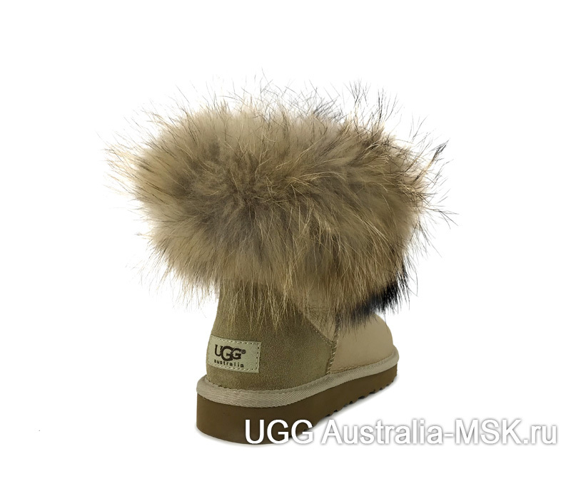 UGG fox fur Mini Sand