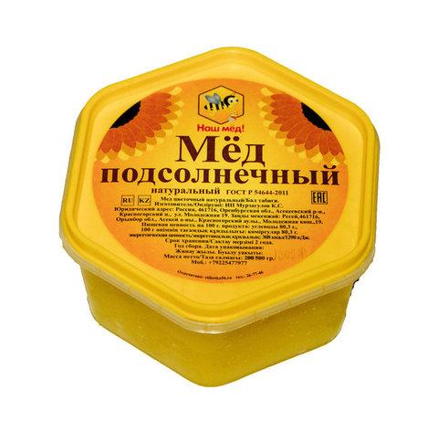 Наш мёд! мёд подсолнечный 500 г