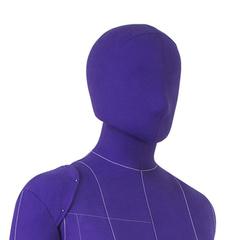 Голова для манекена Monica мягкая, женская, фиолетовая, на магните, обхват 53 см