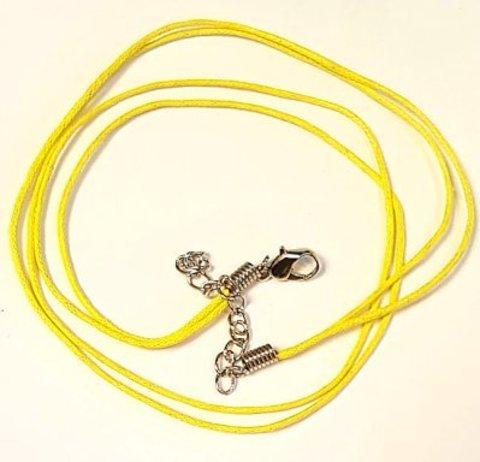 Шнур вощеный с замочком Желтый
