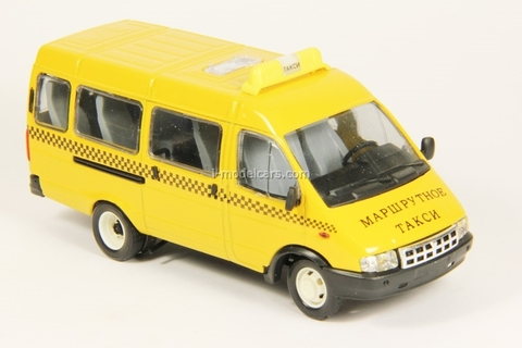 GAZ-3221 Gazelle Route Taxi second facing yellow Agat Mossar Tantal 1:43