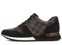 Кроссовки Мужские Louis Vuitton Run Away Brown Classic Edition
