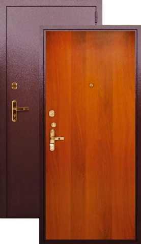 Сейф-дверь входная Берлога Эконом (Эк-1), 2 замка, 1,7 мм  металл, (медь антик+итальянский орех)